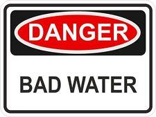 Peligro mala del agua etiqueta de advertencia de peligro adhesivos de vinilo de TAP Auto Casco De Motocicleta