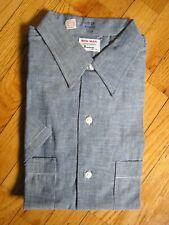 "New listing Vtg 60's ""Big Mac"" Penneys Mens Large Double Pocket Short Sleeve Work Shirt Nos"
