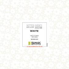 """Benartex Kanvas Studio White on White Cotton Fabric Charm Pack 42 - 5"""" Squares"""