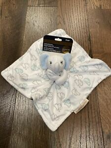 Blankets And Beyond Blue Elephant Blanket Security Lovey ~ New