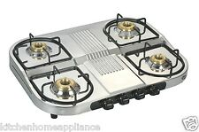 Designer Stainless Steel 4 Burner LPG Gas Stove Step Model (Ground-First floor)