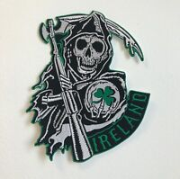 Sons of Anarchy Ireland Large Biker Jacket Back Sew On Embroidered Patch