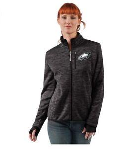 G-III 4her Philadelphia Eagles Women's Slap Shot Full Zip Jacket - Charcoal