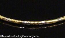 "14k Yellow & White Gold Diamond Cut Twist Sparkle Snake Chain Necklace 16"" 1mm"