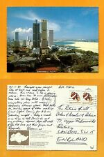 SINGAPORE VINTAGE  POSTCARD -STAMP- AERIAL VIEW OF SINGAPORE