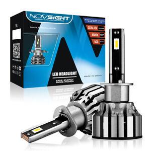 NOVSIGHT 2x H1 80W 15000LM Car LED Headlight Globe Bulbs Hi/Lo Beam 6500K