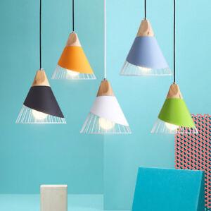 25cm Wood Pendant Light Bedroom Ceiling Hotel Lamp Kitchen Bar Chandelier Lamp