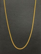 18ct 18K Yellow Gold Italian Fine Curb Link Chain Necklace 2.7 Grams 50.5cm. New