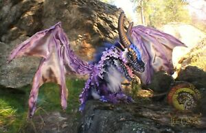 Woodsplitter Lee Cross LARGE Original Handmade Poseable Weighted Dragon!