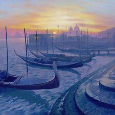 "NEW ORIGINAL MARK HARRISON  ""San Zaccaria"" Venice Gondolas Italy OIL PAINTING"