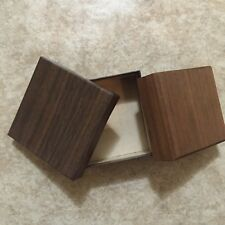 Vintage Wood Box For Pedant Or Earrings Or Chain Made In Japan