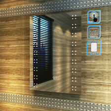 500x700mm Illuminated LED Mirror Bathroom | Demister | Touch | IP44