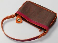 Authentic ETRO Orange Paisley Collection Leather Handbag Purse Bag $410 SOLD OUT