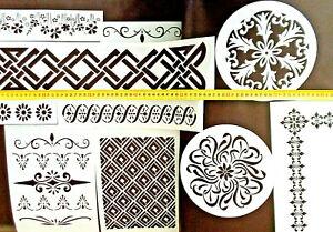 50 Schablonen !! verschiedene Konvolut Kunststoff mehrfach verwendbar Stencil