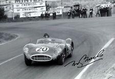 Tony Brooks Aston Martin DBR1 Le Mans 1957 Signed Photograph