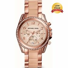 NUOVO Originale Michael Kors MK5943 Quadrante rose gold-tone Blair Donna Orologio Regalo UK
