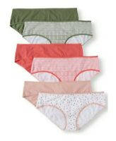 6 PAIR of WOMEN'S HIPSTER COTTON UNDERWEAR STRETCH PANTIES size 1X(11)