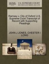 Ramsey V. City Of Oxford U.S. Supreme Court Transcript Of Record With Support...