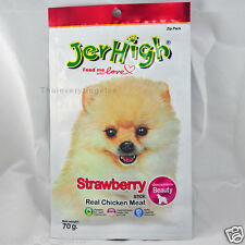 Jerhigh Strawberry stick 70g. Real Chicken Meat For Beauty Feed me with Love
