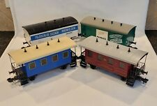 Marklin 1 scale (2) Passenger Cars & (2) box cars.  Lot of 4 total.