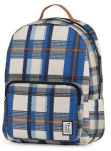 The Pack Society, Rucksack, B31 x H42 x T14 cm, Blue checks allover