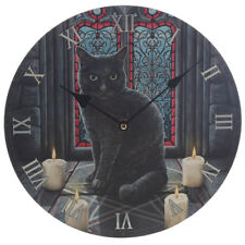 Sacred Circle Cat Wall Clock 30cm - Lisa Parker Pagan / Wicca NEW & Boxed