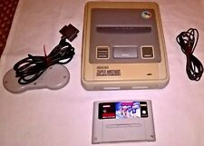 SNES Super Nintendo Console : 1 Pad & 1 Game & TV RF Lead - WORKING & TESTED UK