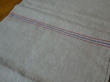 Antique European Feed Sack GRAIN SACK Red & Blue Stripes # 8280
