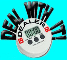 Electronic Dealer Button Timer for Poker Tournament Blind Levels/Structures New