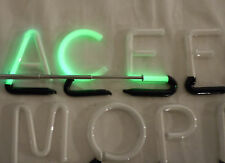 "Vintage 2"" Interchangable Green Neon Store Display Sign Letters - Tested Working"