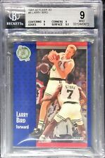 BGS 9 w/9.5 LARRY BIRD 1991-92 Fleer 3D Acrylic Wrapper Redemption #8 RARE MINT