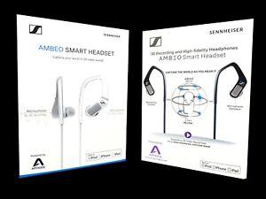 ✅ SENNHEISER AMBEO SMART HEADSET Weiß 508478 Black 507498 für Apple iOS 3D Sound