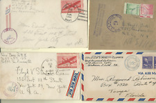 WORLD WAR 2 US SOLDIER MAIL, AIRMAIL, CENSOR MARKINGS 1942-45, 9 COVERS FREESHIP