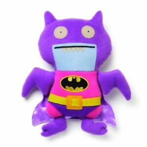 "Uglydoll DC Comics Pink/Purple Batman Plush, 10"""
