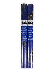 Hallmark DC Comics Batman Xmas Wrap Christmas Wrapping Paper Holiday Blue