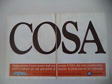 advertising Pubblicità 1987 VESPA PIAGGIO COSA