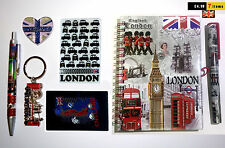 UNION JACK LONDON KEYRING UJ MAGNET NOTEPAD & PEN - BRITISH SOUVENIRS GIFT SET
