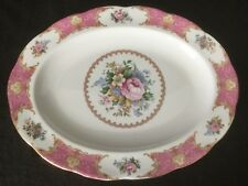 """Royal Albert Lady Carlyle 13 3/4"""" Platter Pink Gold Floral"""