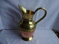 Lovely Peerage Large Vintage Copper & Brass Jug - Height 25  cm 2 Pint