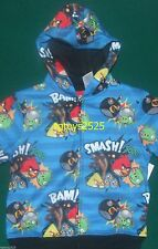 Angry Birds Zip Up Hoodie 4-5 XS 8 M 10 12 L 14 16 New Sweatshirt Child Jacket