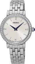 Seiko SFQ811P1 Femme Acier Inoxydable & Swarovski Crystal Set Watch RRP £ 279