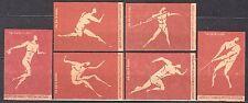 POLAND 1960 Matchbox Label - Cat.Z#196/201II set, Olympic Games ROME 1960.