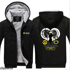 Anime JoJo Bizzare Adventure Zipper Sweatshirt Boys Jacket Coat Thick Hoodies