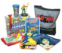 CultureFly  Retro Justice League Box-T-shirt, Batman Tote, Aquaman Vinyl & More