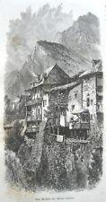 stampa antica SAN MICHELE MONTE CENISIO MONCENISIO val di Susa Saint-Michel 1875