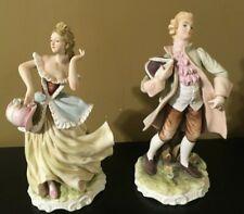 """Lefton Gwendolyn & Brian 10 3/4"""" Figurines Kw337"""