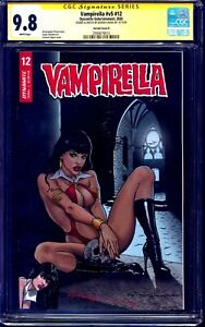 Vampirella v5 #12 VARIANT CGC SS 9.8 signed + SKETCH by Levend Canga NM/MT