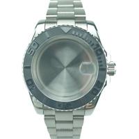 10ATM 40mm Yacht master Style Watch Case Bracelet Fit ETA2836 Miyota8215 DG2813