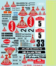 1/10 1985 1986 Audi Sport Quattro S1 Racing sticker decal for TT01 TT03 Chassis