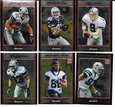 2007 Bowman Chrome football Dallas Cowboys team set (6 cards) including 2 RCs!